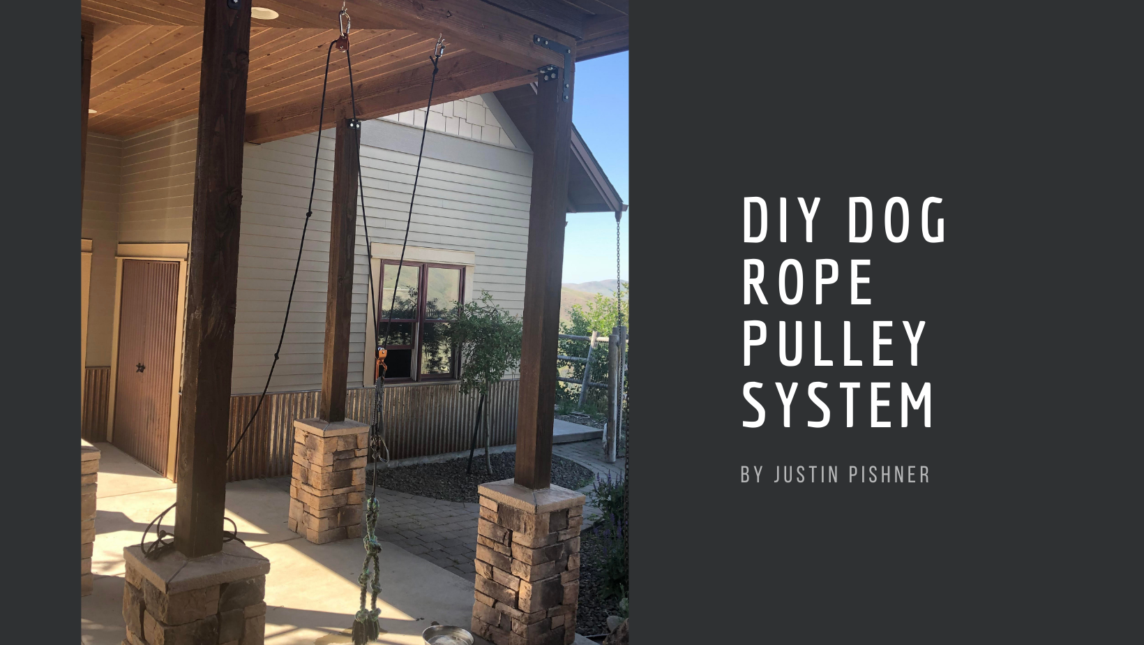 dog rope pulley system