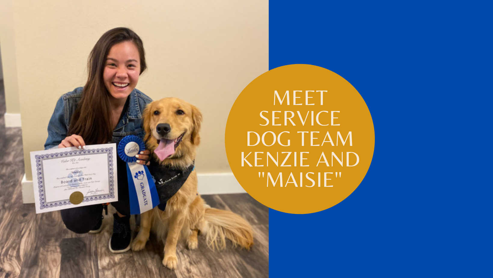 service dog team kenzie idaho